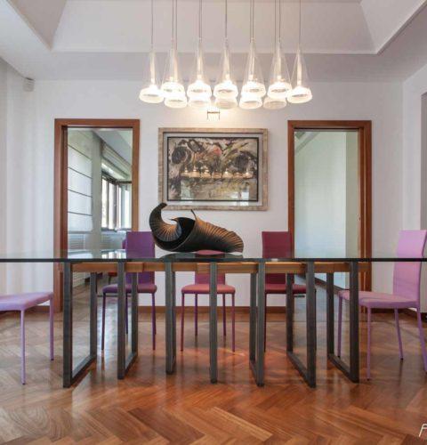 ristrutturazione Roma Parioli sala pranzo -13