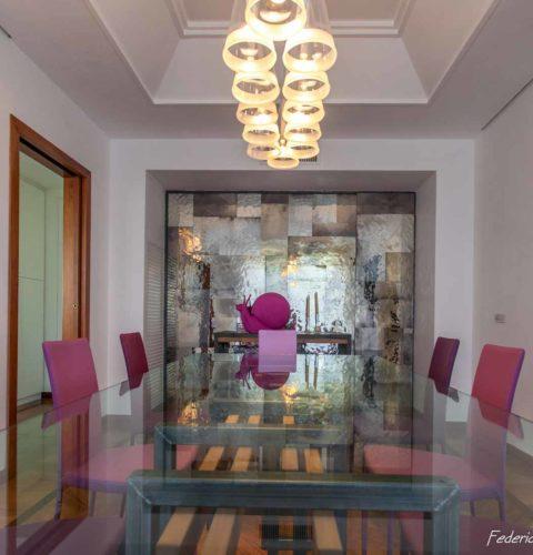 ristrutturazione Roma Parioli tavolo design -11
