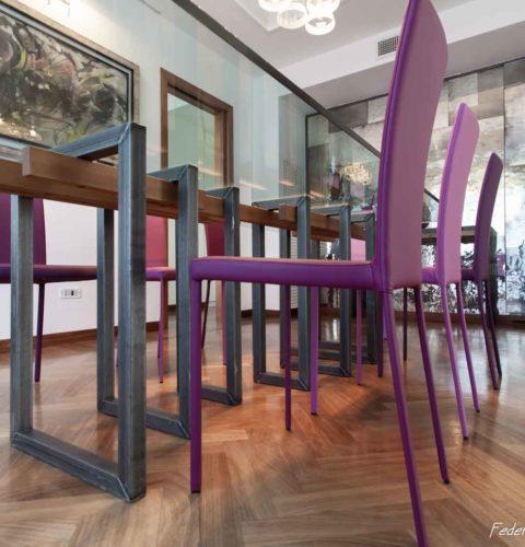 ristrutturazione Roma Parioli tavolo design -12