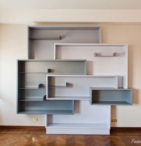 rsitrutturazione Roma Parioli libreria design -25
