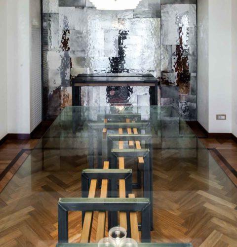 rsitrutturazione Roma Parioli tavolo design -26