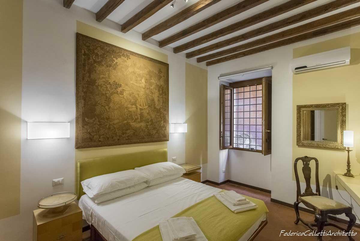 Camera da letto Montegiordano 13 Dopo i lavori di Restauro e Interior Design