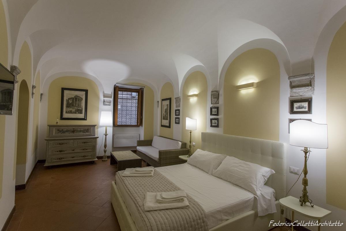 Soffitto a Volte Camera da letto Montegiordano 13 Dopo i lavori di Restauro e Interior Design