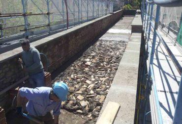 Restauro e consolidamento Mura aureliane-6 cocciopesto