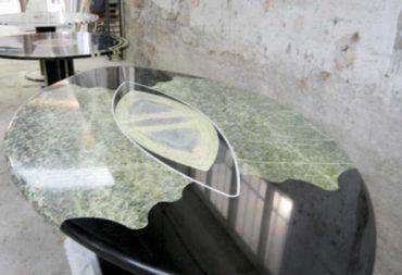 Tavolo ovale marmo snake-4