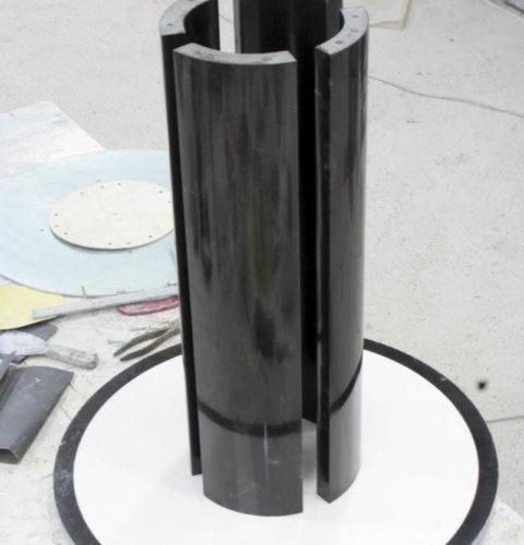 Tavolo tondo marmo biano nero-3