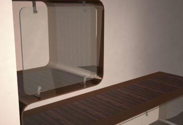mobile bar in acciaio e legno-1