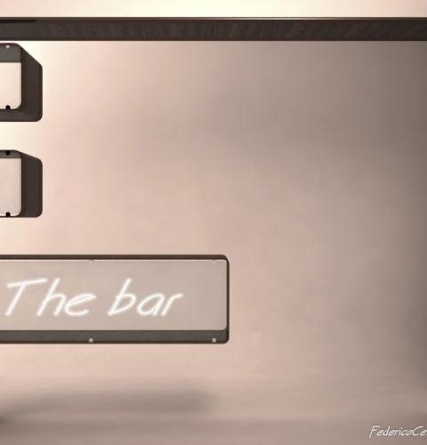 mobile bar in acciaio e legno-2