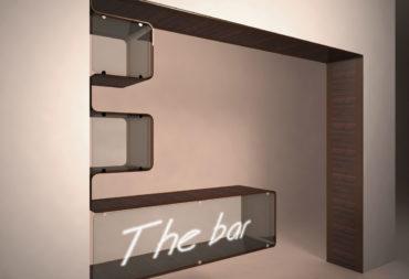 mobile bar in acciaio e legno-3