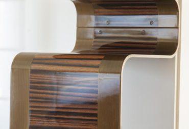 mobile bar in acciaio e legno-8