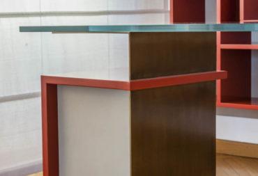 scrivania Hold in vetro e metallo-6
