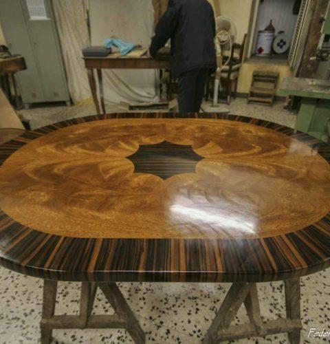 tavolo corinzio ebano e noce-1