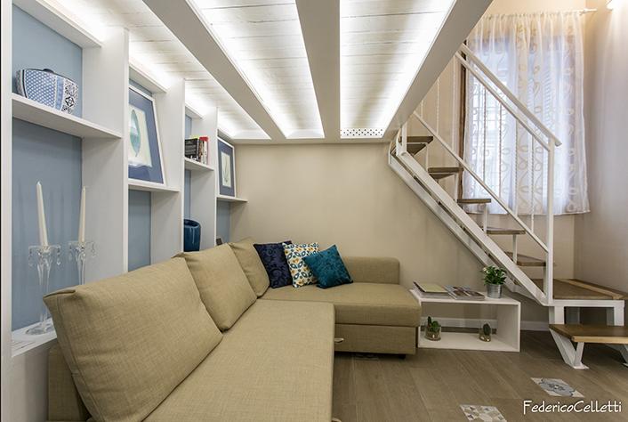 Spazio Interno e Soppalco in legno Urbana 120 Dopo i lavori di Restauro e Interior Design