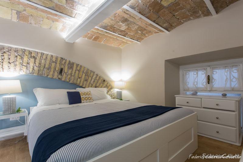 Soffitto e Arco in Mattoni Area Notte Urbana 120 Dopo i lavori di Restauro e Interior Design