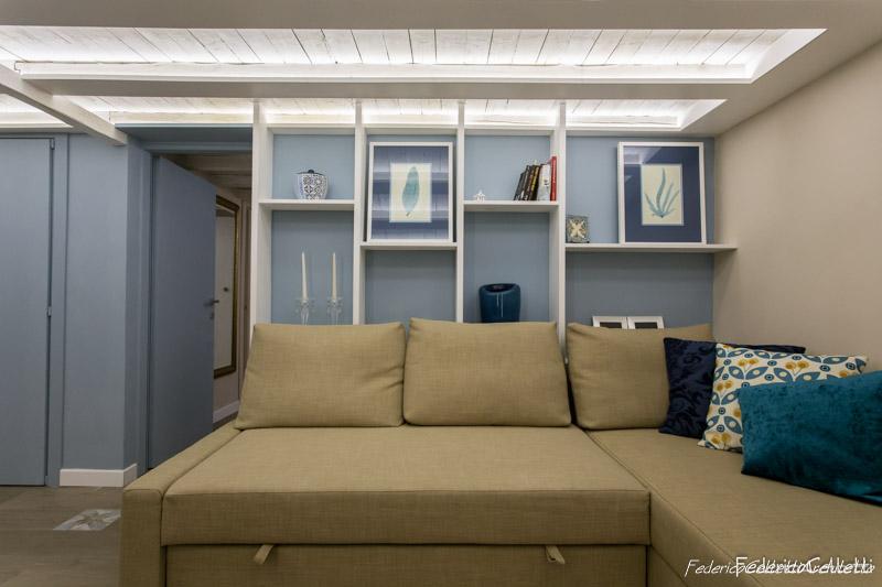 Angolo Relax e Divano Urbana 120 Dopo i lavori di Restauro e Interior Design