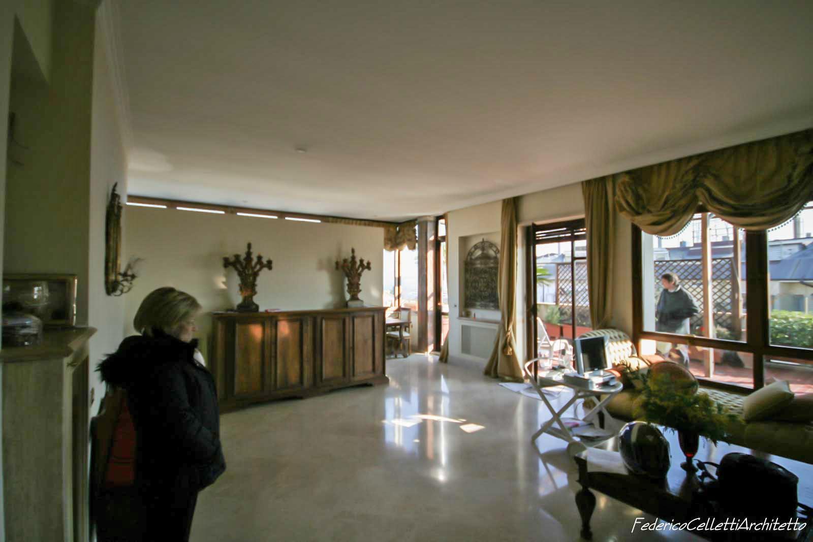 L'attico Fleming Prima dei lavori di Restauro e Interior Design