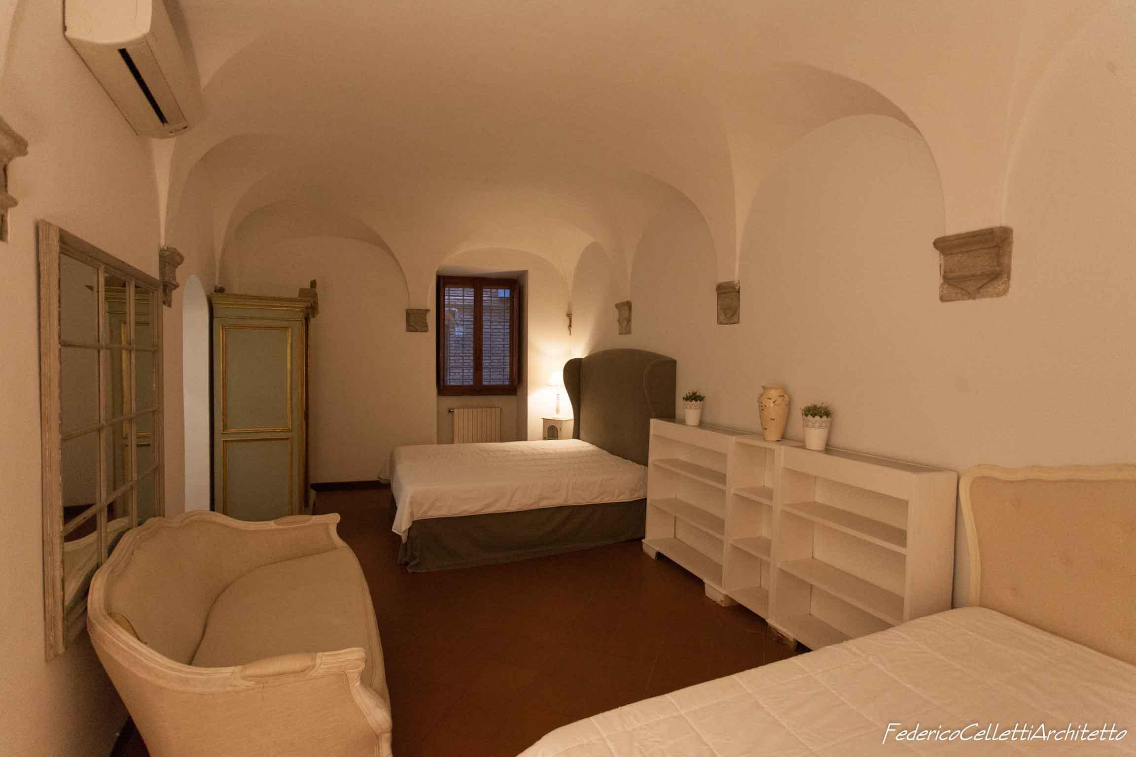Soffitto a Volte Camera da letto Montegiordano 13 Prima dei lavori di Restauro e Interior Design