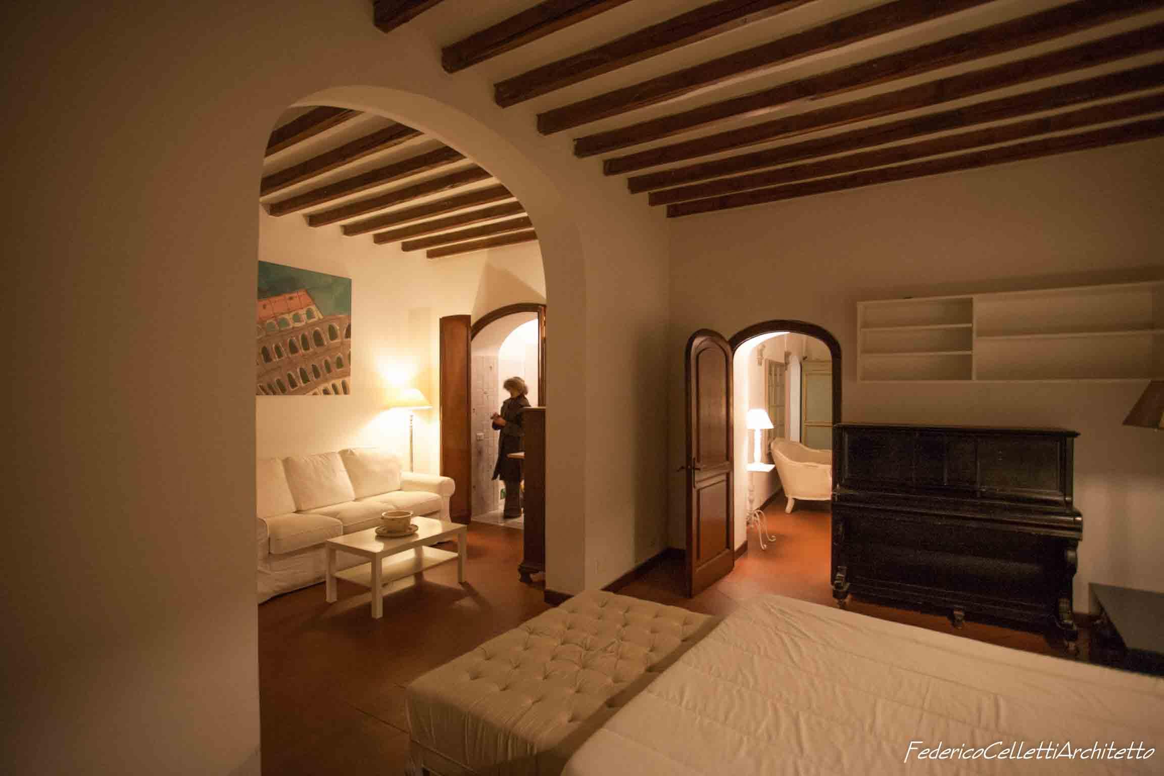 Arco camera da letto Montegiordano 13 Prima dei lavori di Restauro e Interior Design