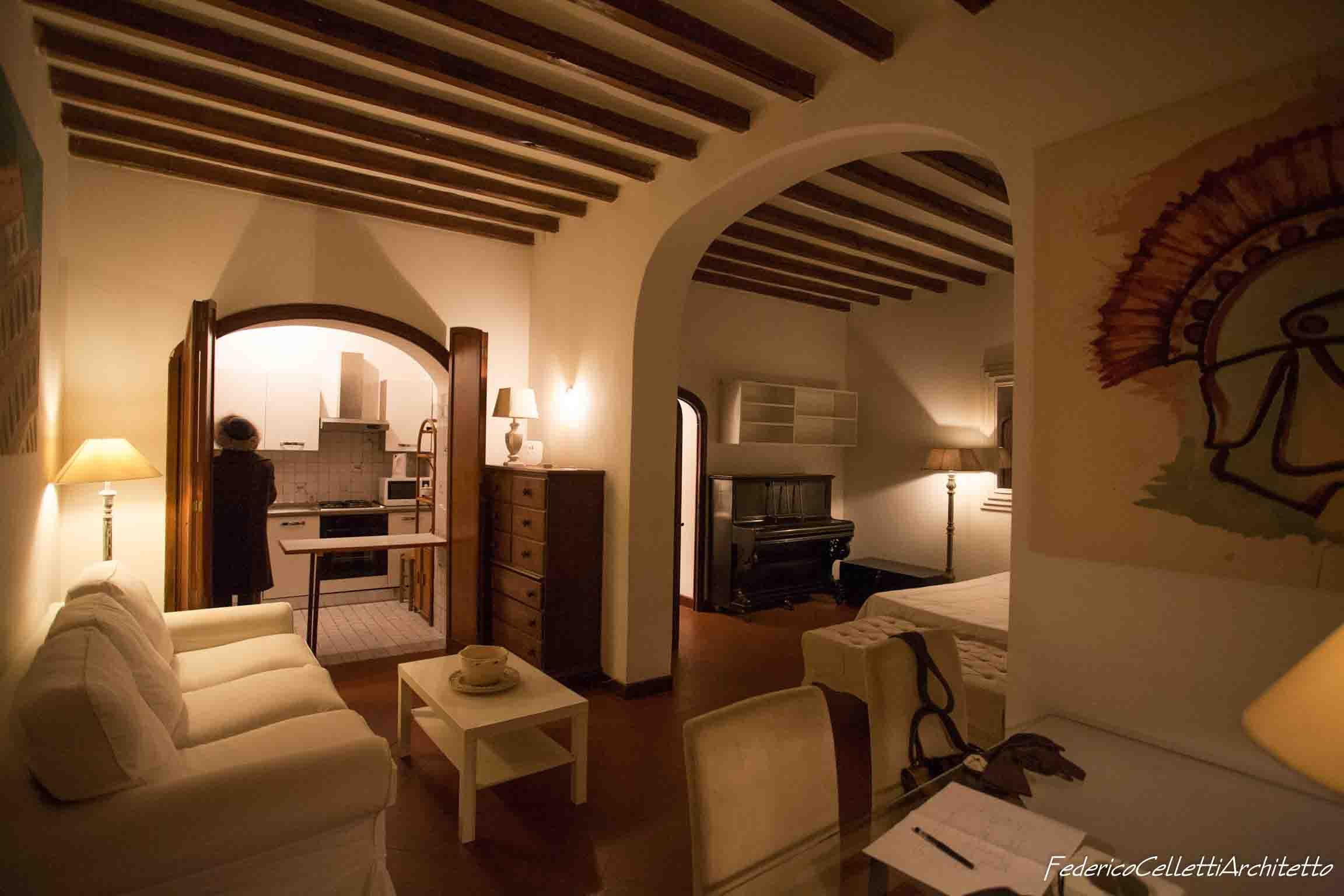 Soggiorno Montegiordano 13 Prima dei lavori di Restauro e Interior Design
