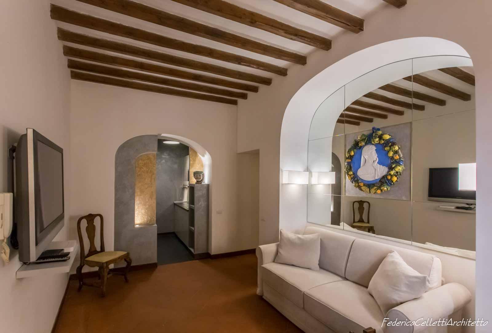 Soggiorno Montegiordano 13 Dopo i lavori di Restauro e Interior Design
