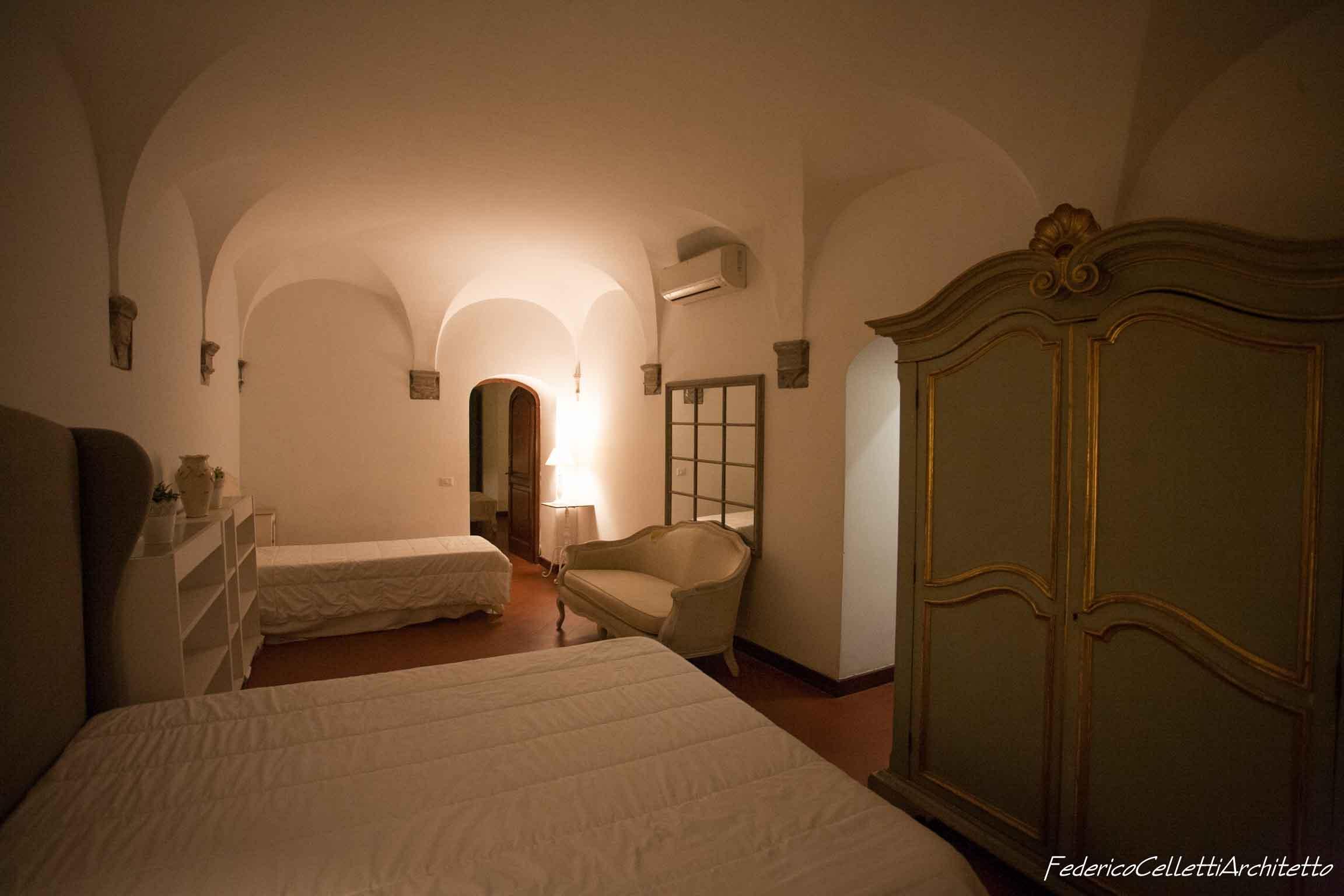 Specchiature Camera da letto Montegiordano 13 Prima dei lavori di Restauro e Interior Design