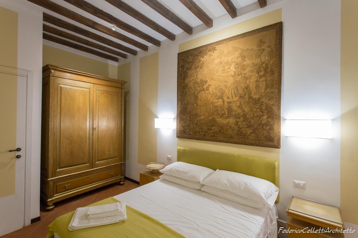 Ingresso camera da letto Montegiordano 13 Dopo i lavori di Restauro e Interior Design