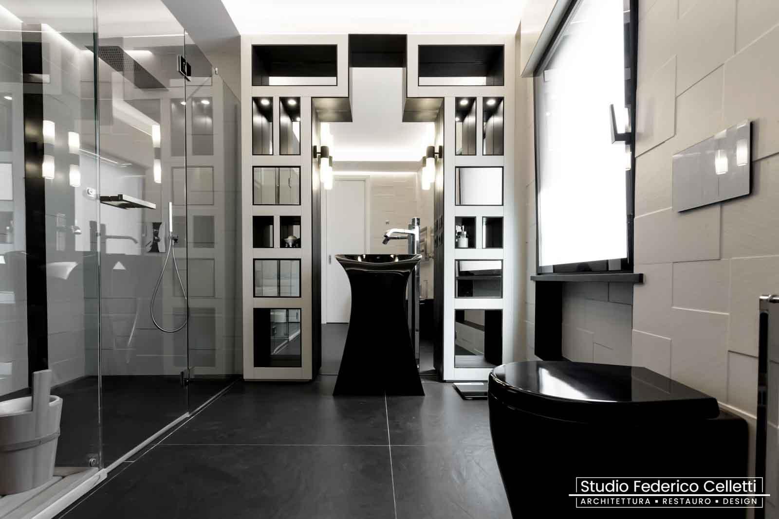 Bagno Padronale Attico A+C Dopo dei lavori di Restauro e Interior Design 01