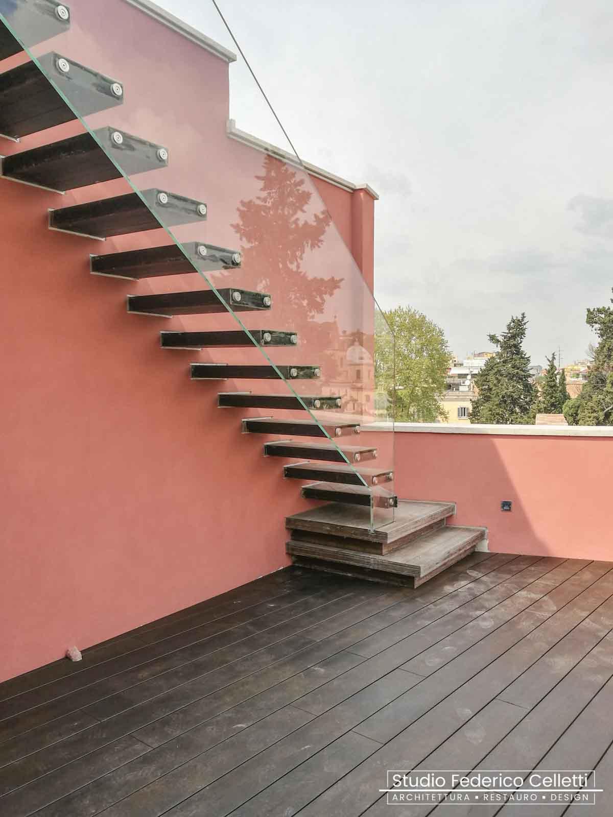 Terrazzo Attico A+C Dopo dei lavori di Restauro e Interior Design 01