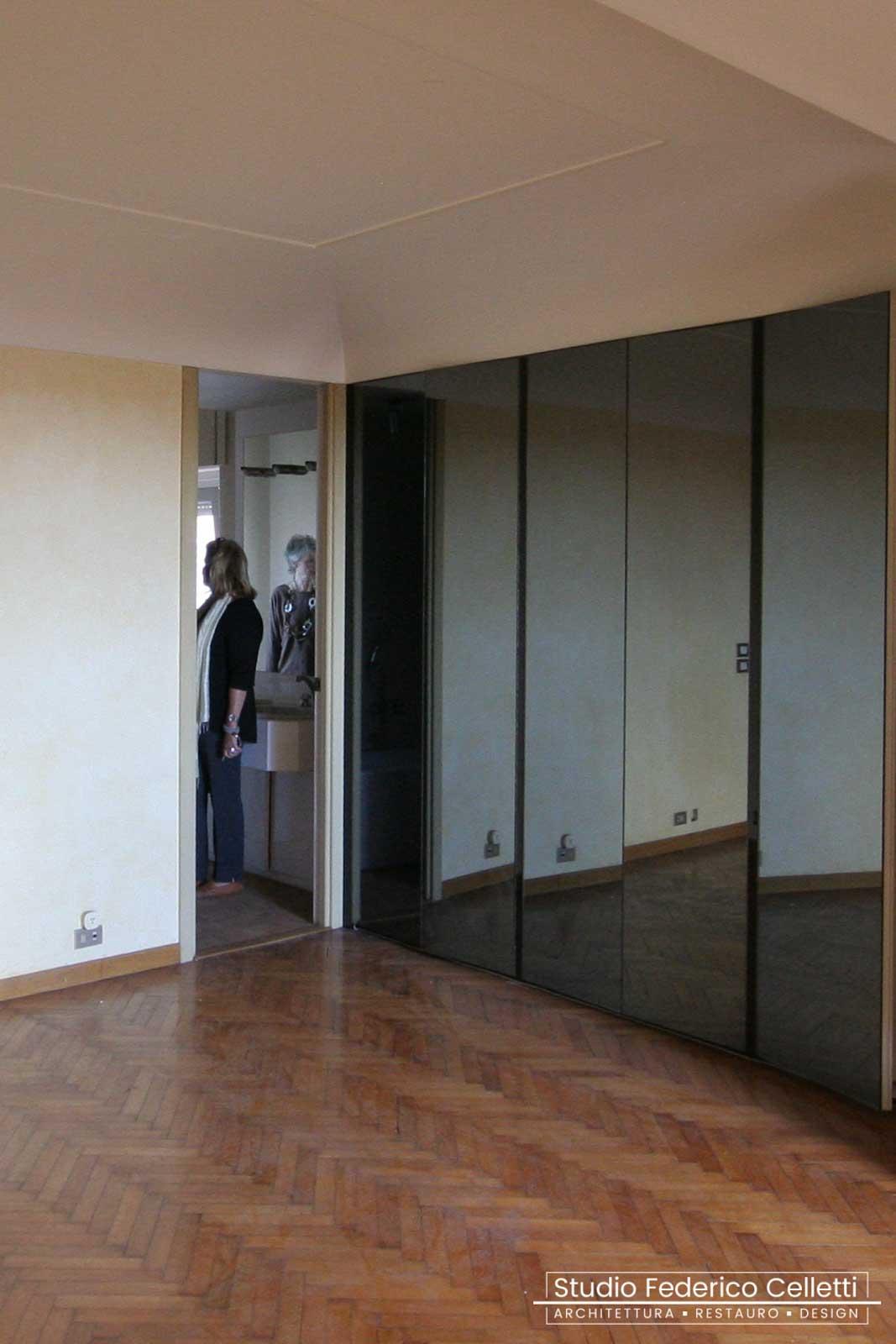 Camera Padronale Attico A+C Prima dei lavori di Restauro e Interior Design 03