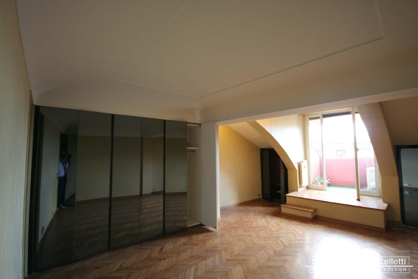Camera Padronale Attico A+C Prima dei lavori di Restauro e Interior Design 02