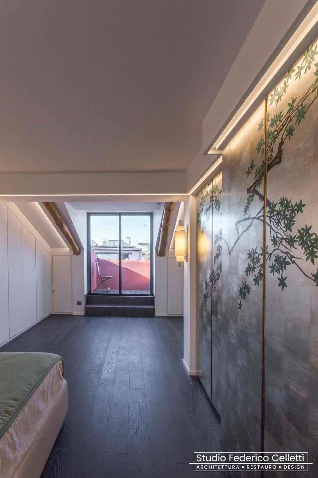 Camera Padronale Attico A+C Dopo dei lavori di Restauro e Interior Design 02