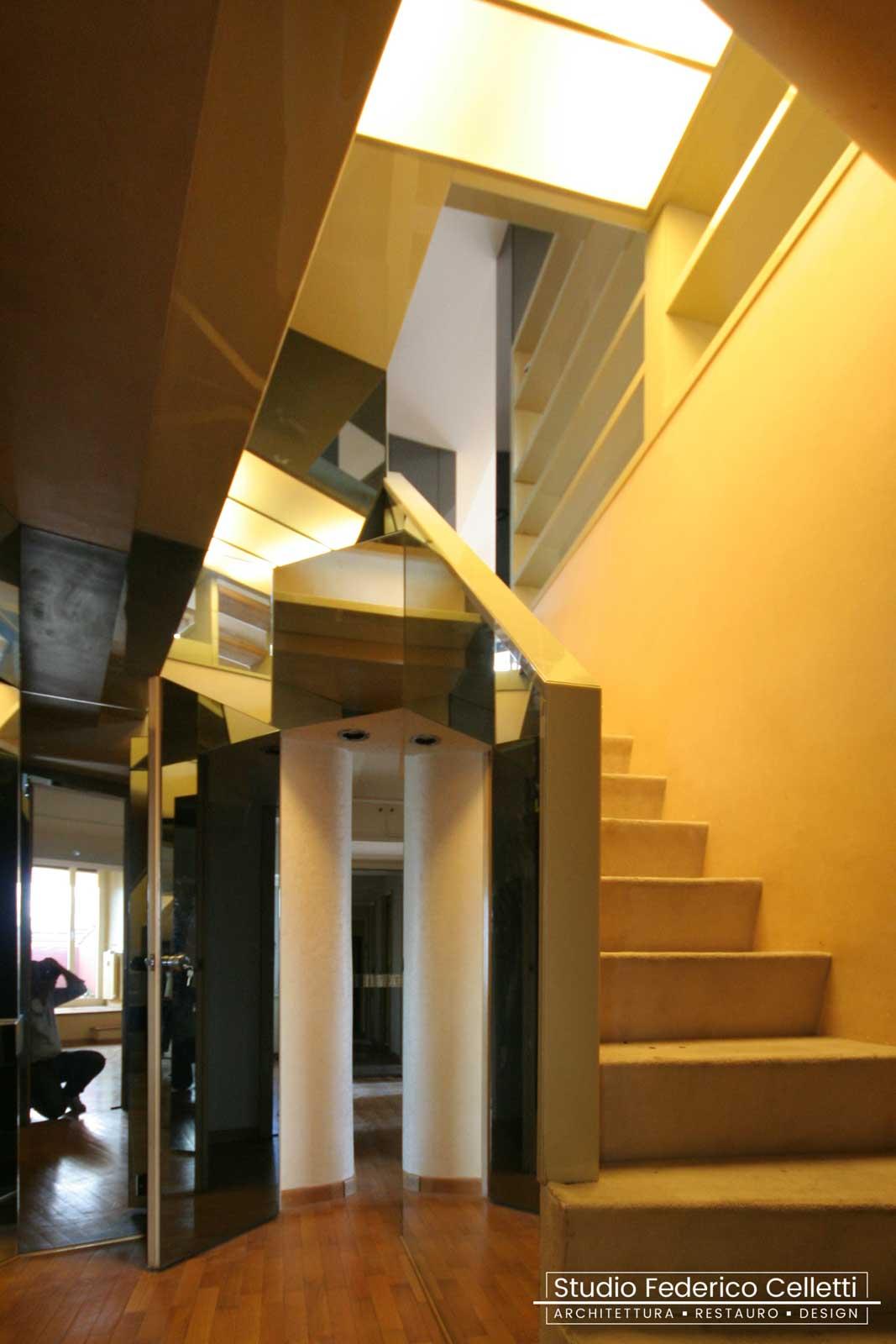 Scala Attico A+C Prima dei lavori di Restauro e Interior Design 01