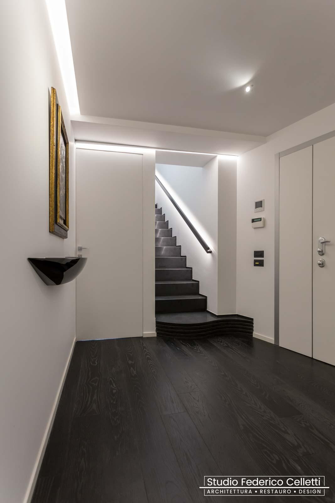Scala Attico A+C Dopo dei lavori di Restauro e Interior Design 01