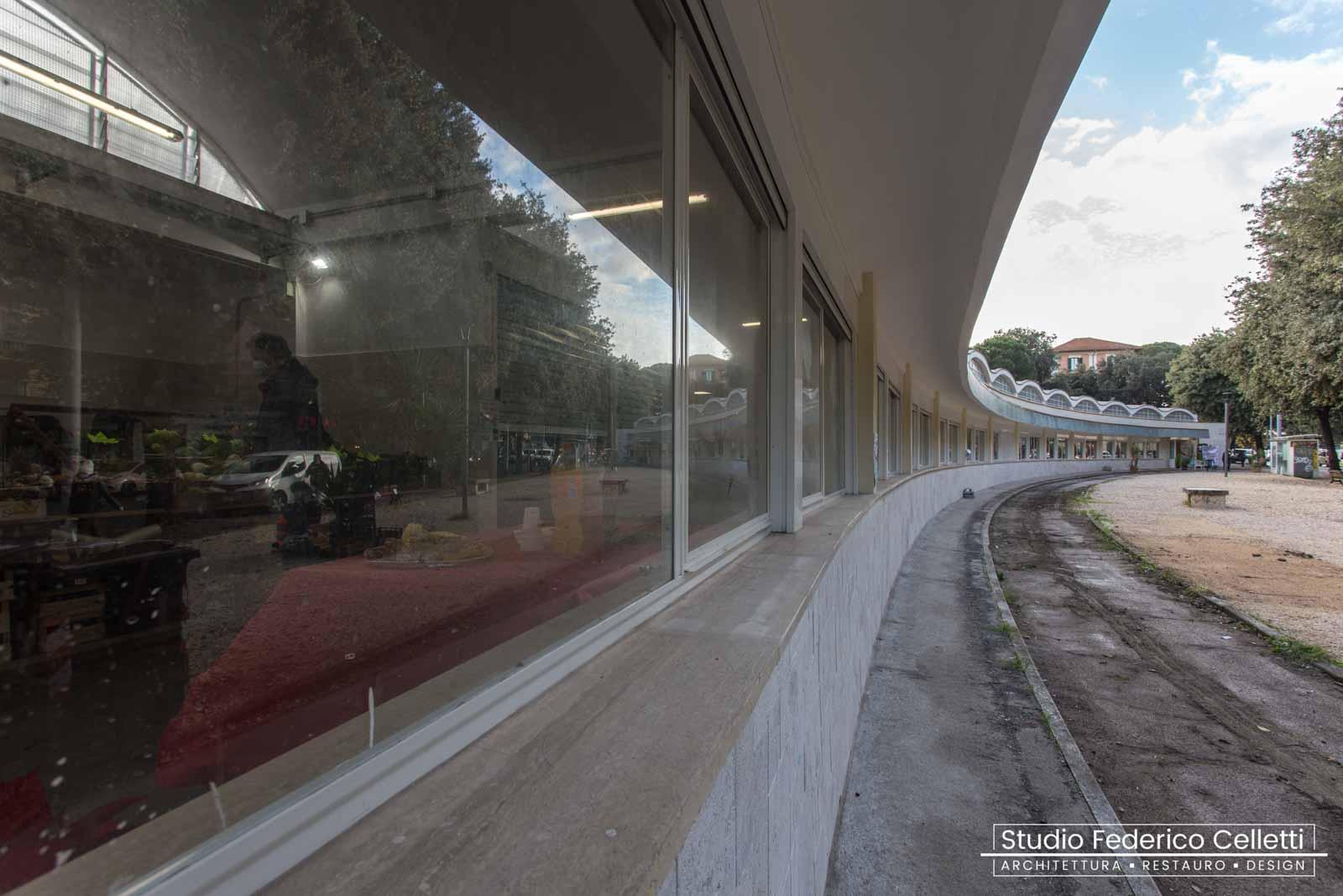 Mercato Montesacro esterno finestre dopo i lavori