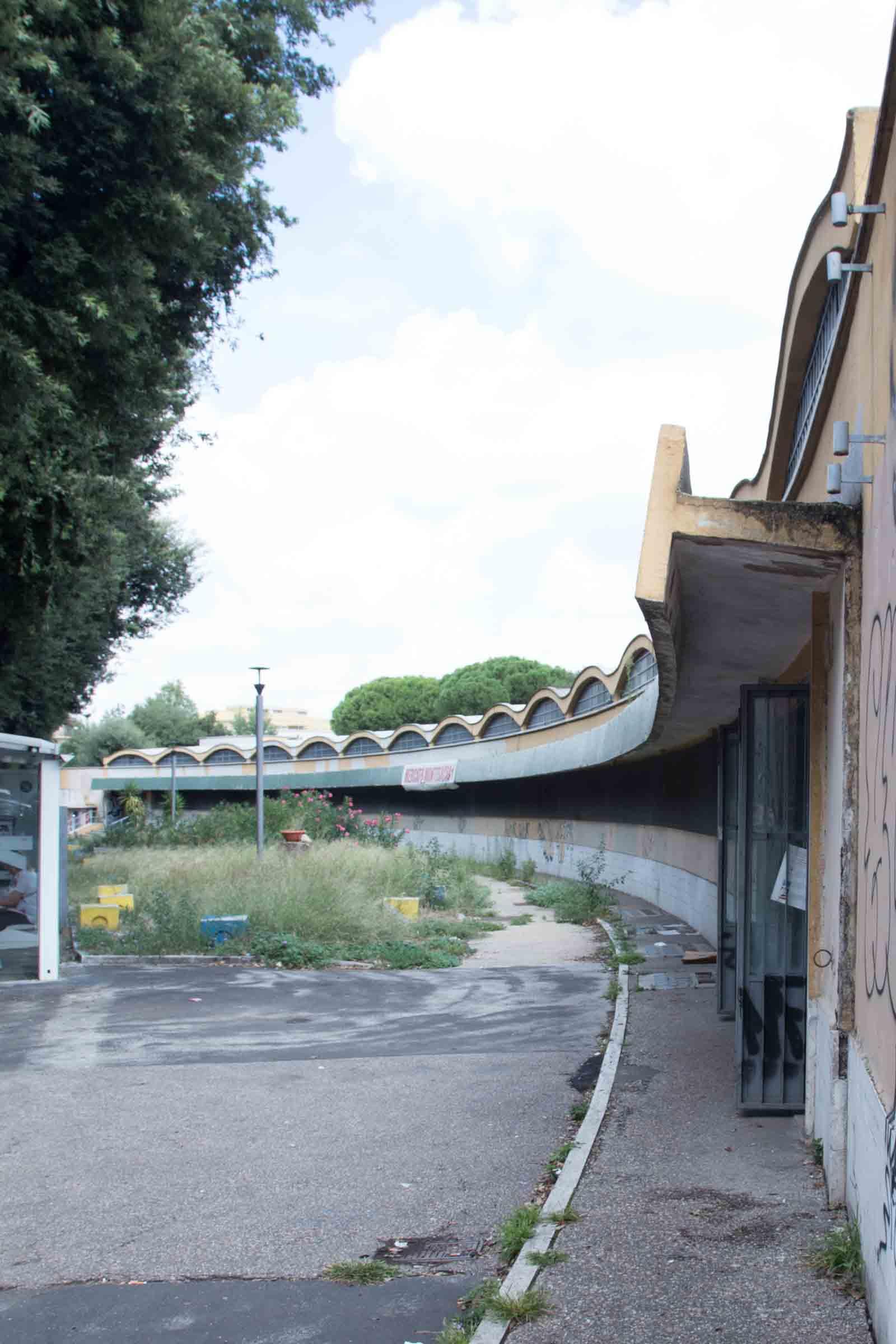 Mercato Montesacro - esterno prima dei lavori