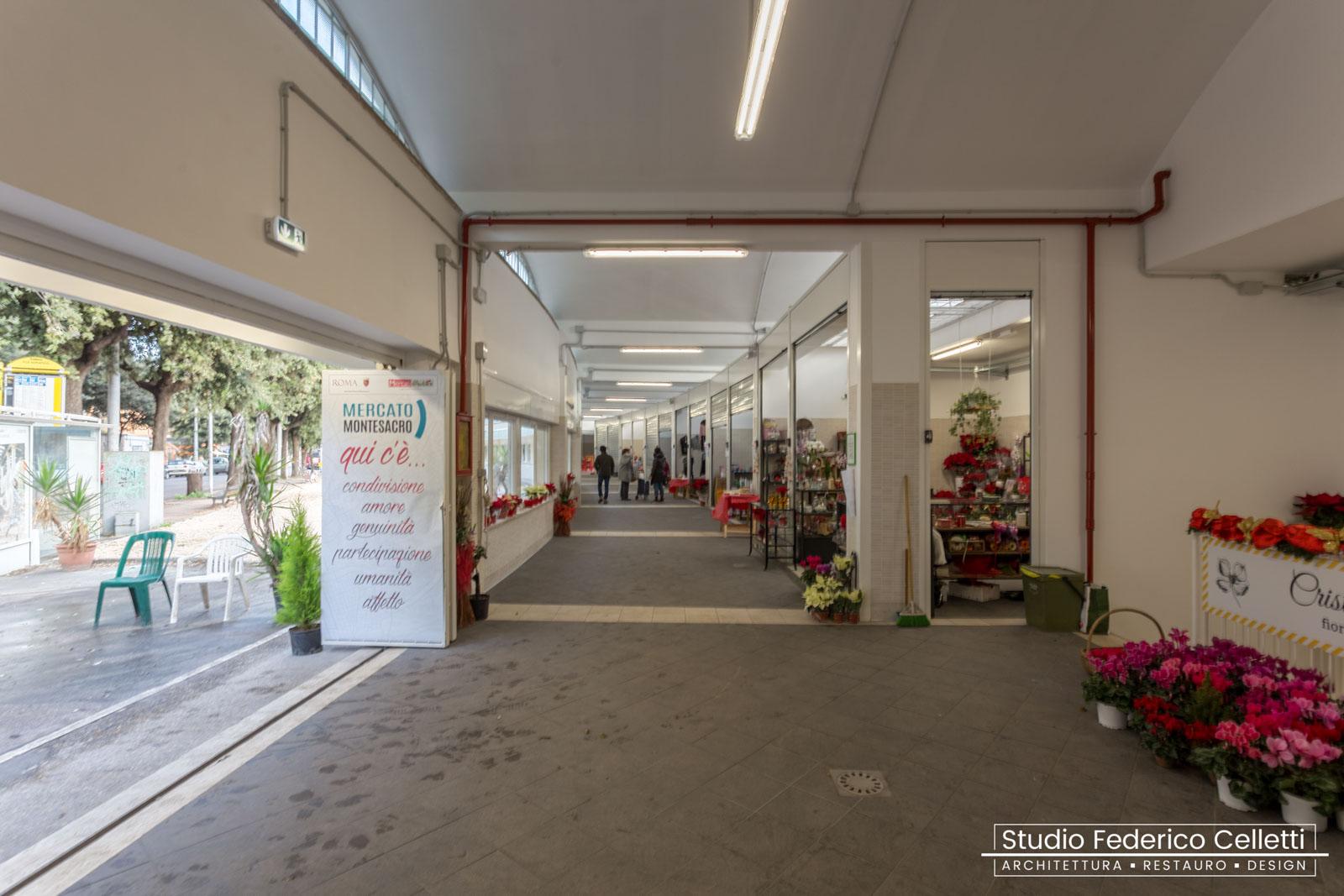 Mercato Montesacro interno ingresso dopo i lavori