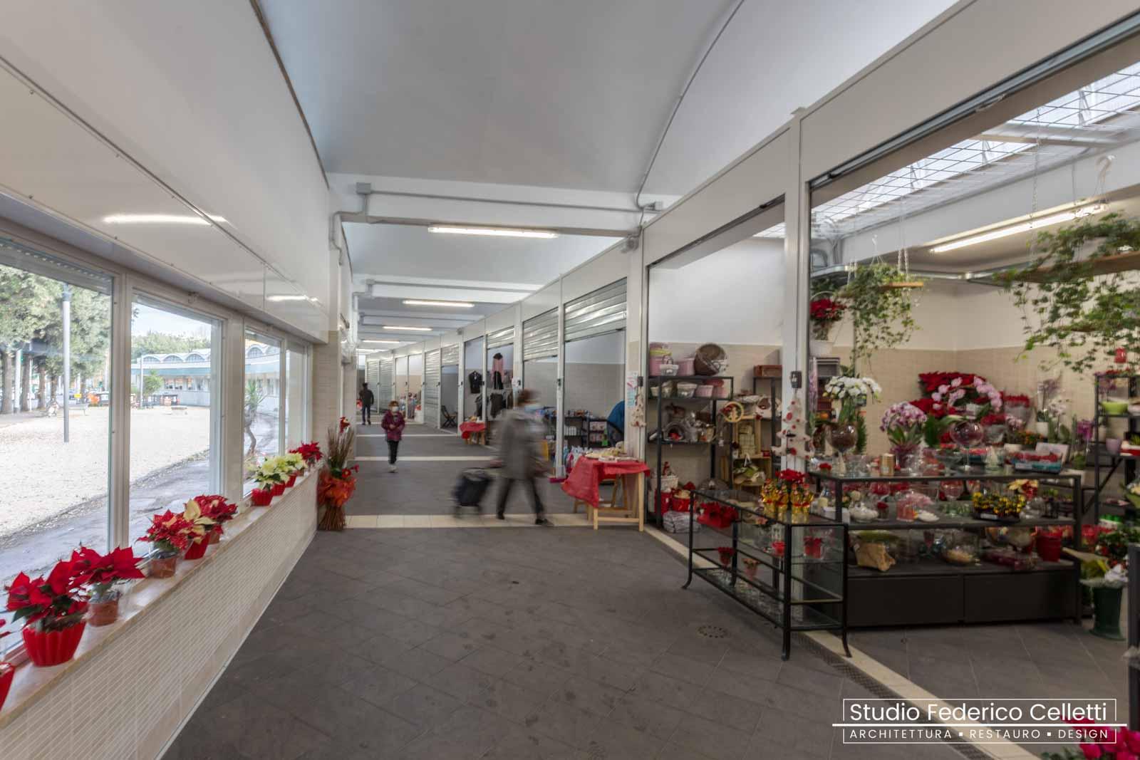 Mercato Montesacro interno corridoio di vendita dopo i lavori
