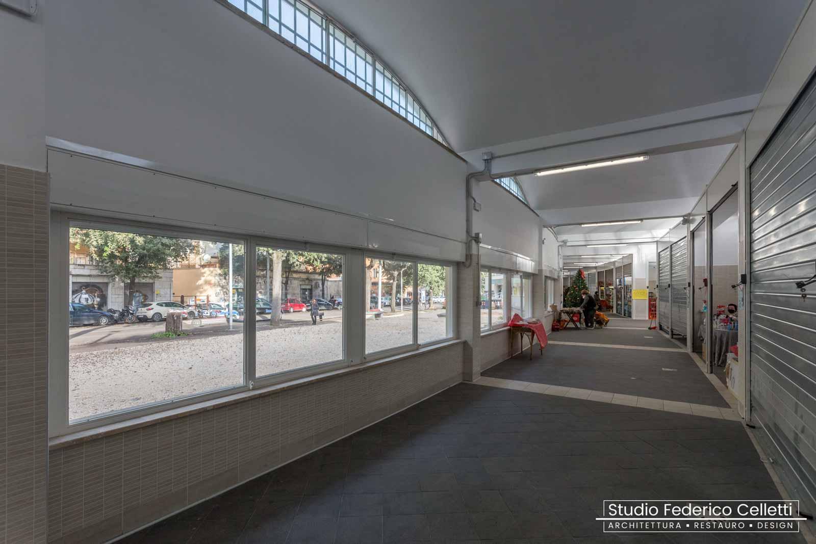 Mercato Montesacro interno finestre dopo i lavori