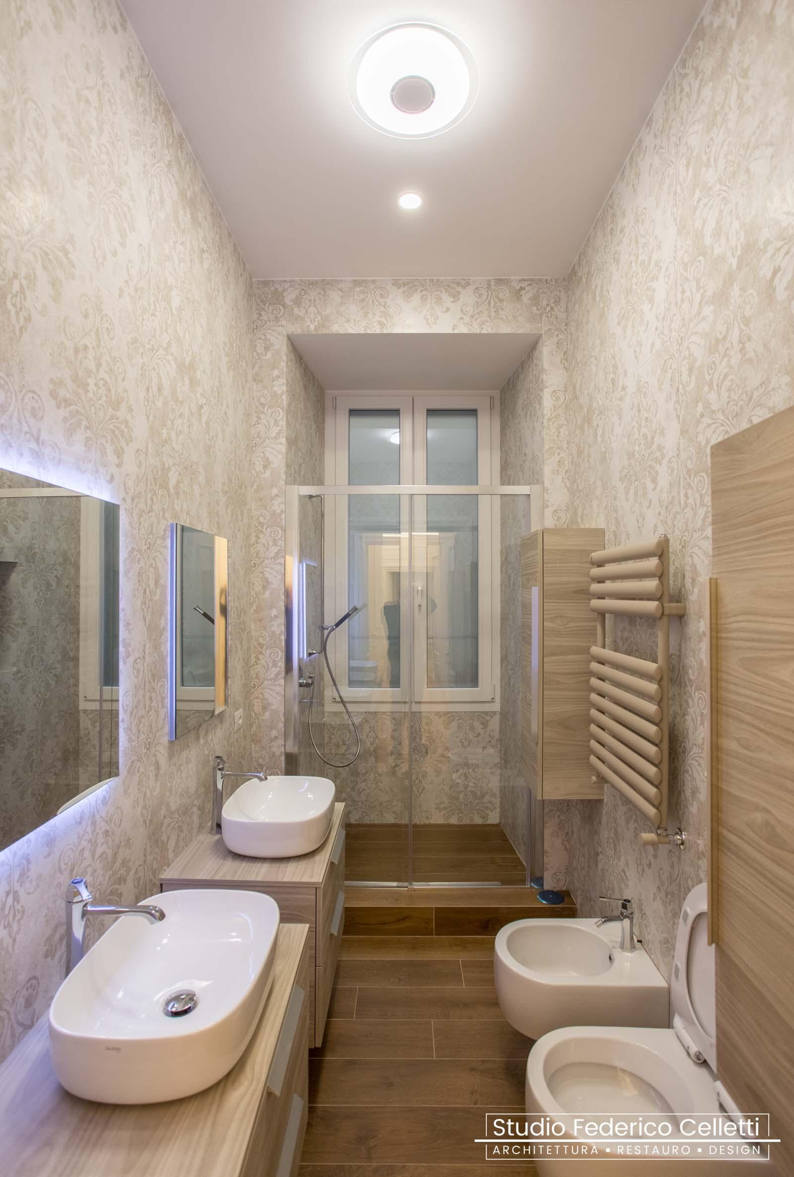 Bagno Casa-N Dopo i lavori di Restauro e Interior Design