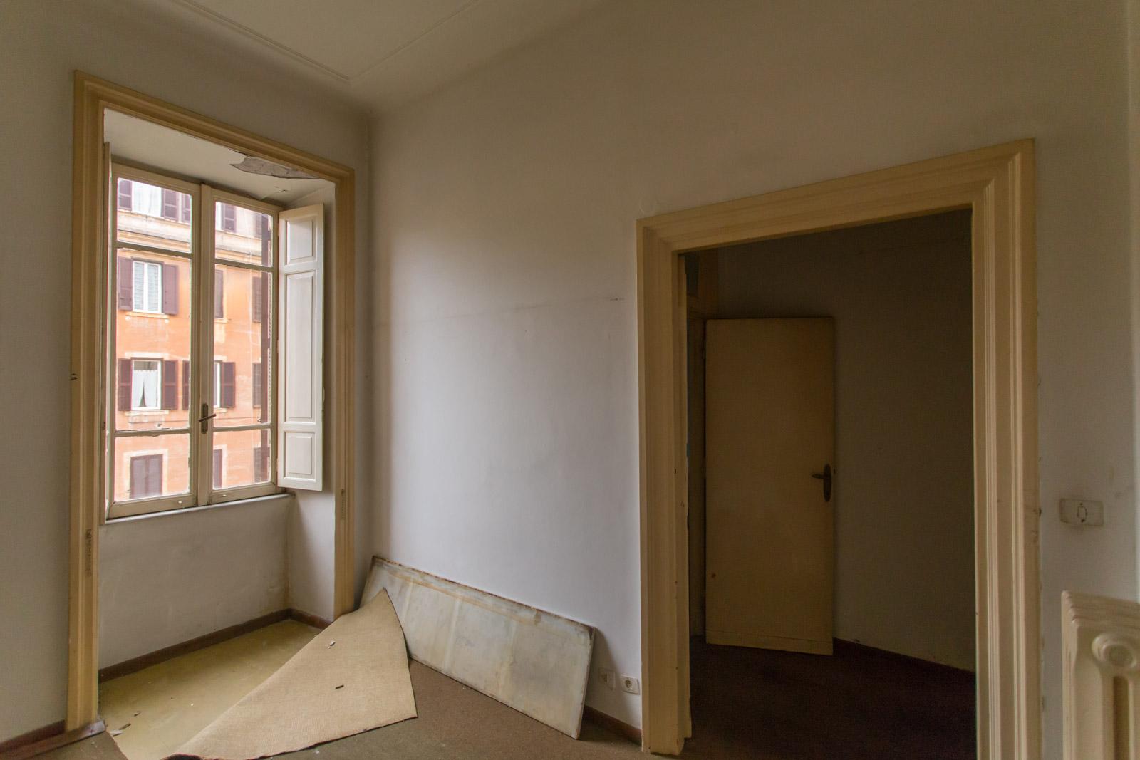 Camera Blu Casa-N Prima dei lavori di Restauro e Interior Design