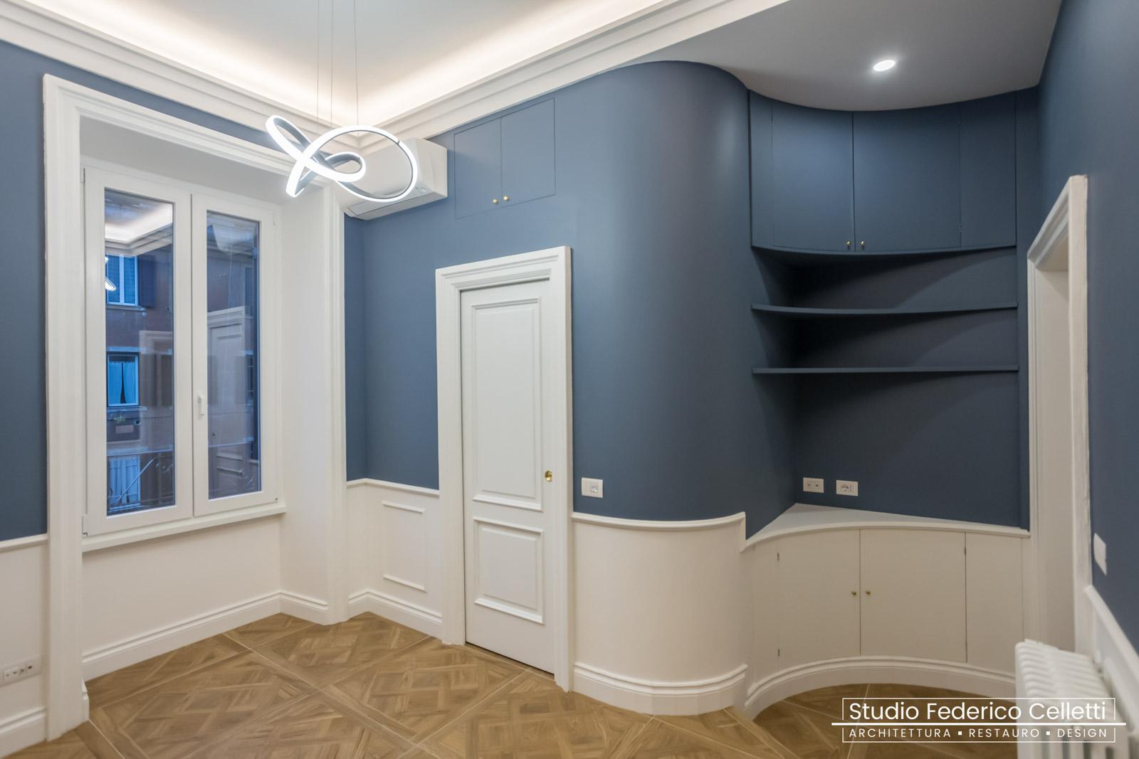 Camera Blu Casa-N Dopo i lavori di Restauro e Interior Design