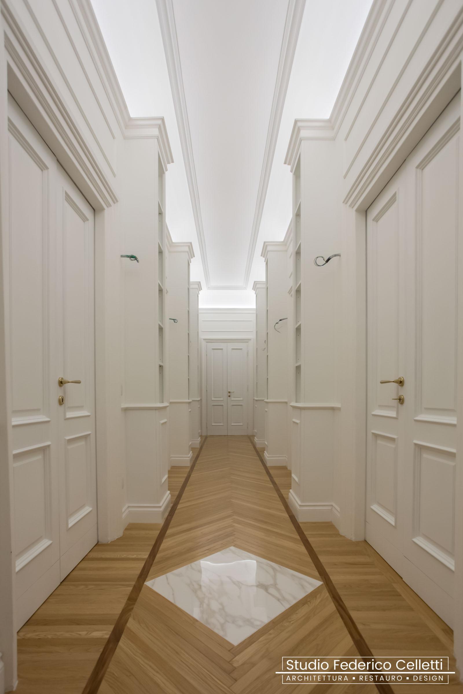 Corridoio Casa N Dopo i lavori di Restauro e Interior Design