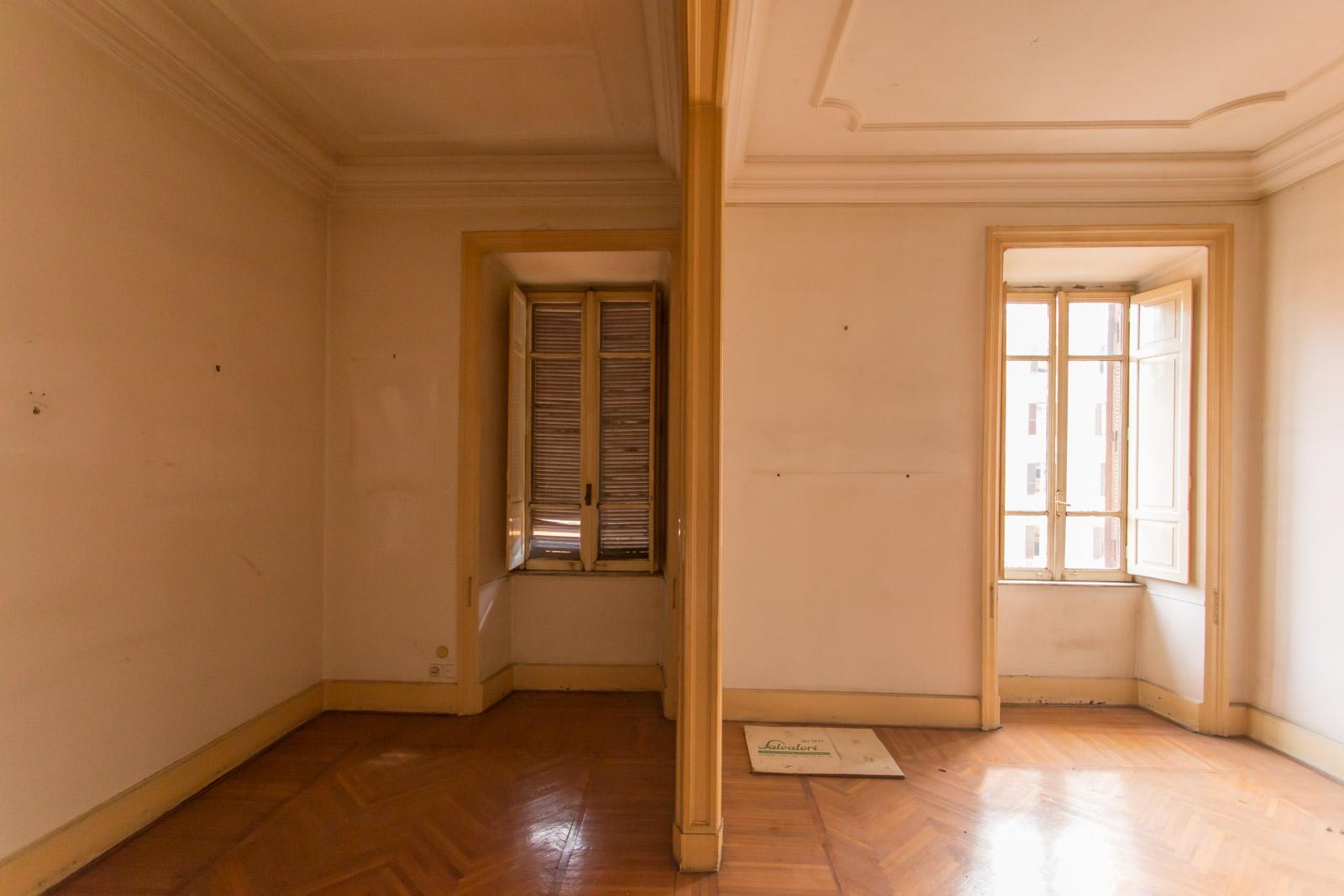Salone Casa N Prima dei lavori di Restauro e Interior Design