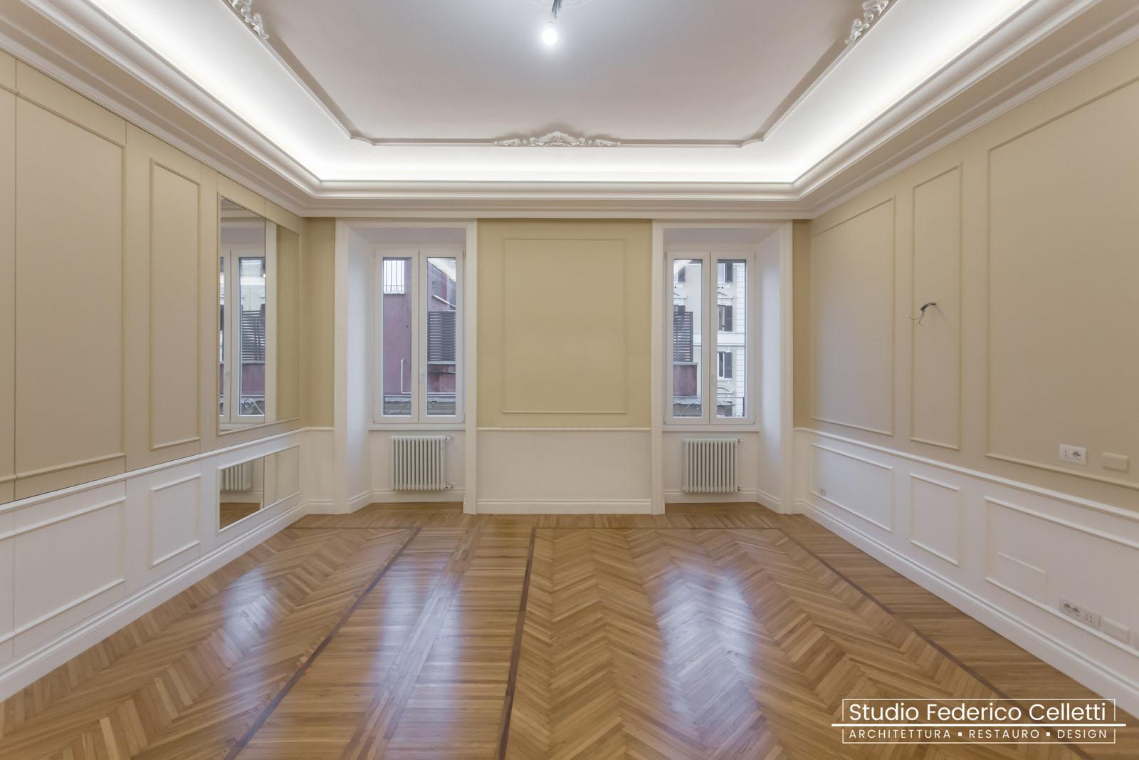 Salone Casa N Dopo i lavori di Restauro e Interior Design