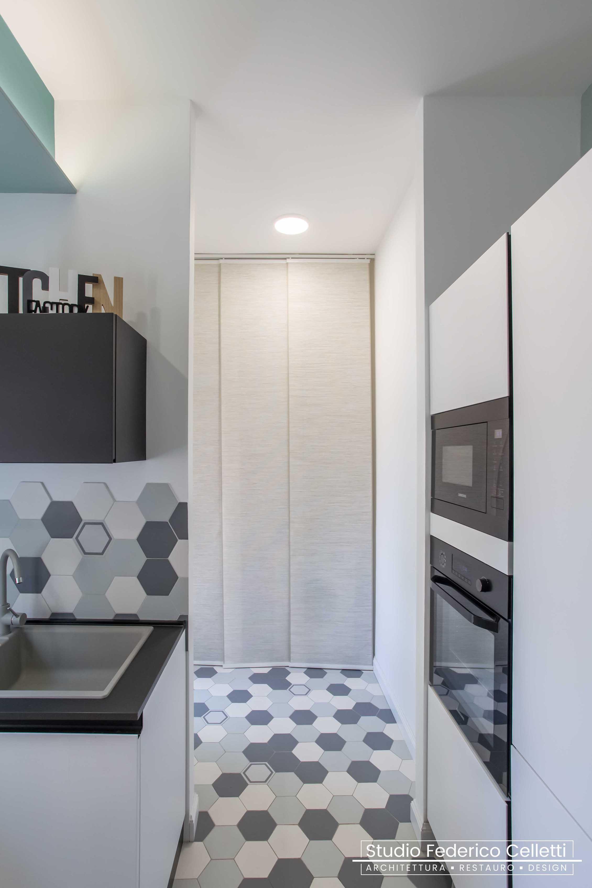 Cucina Penguin House Dopo i lavori di Restauro e Interior Design