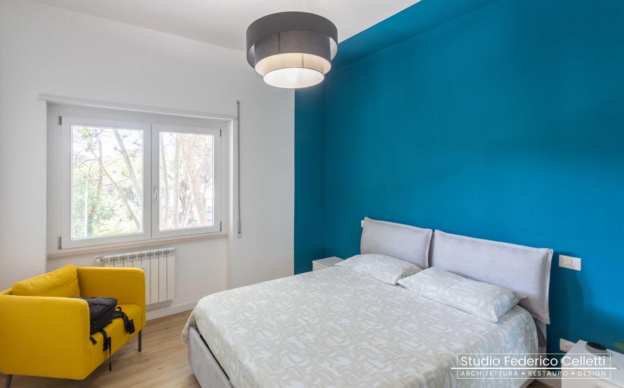 Camera da letto Penguin House Dopo i lavori di Restauro e Interior Design