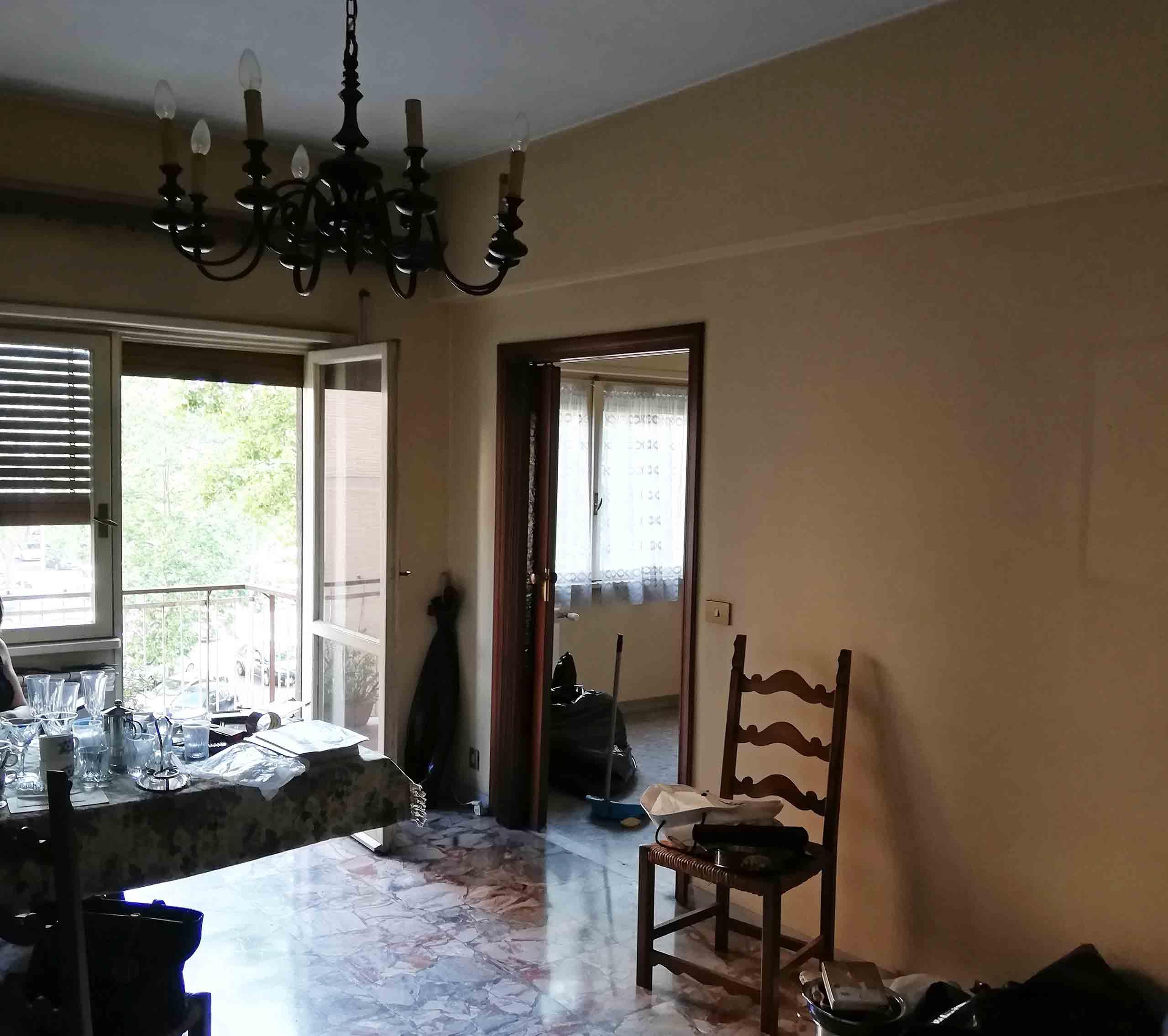Vetrata Penguin House Prima dei lavori di Restauro e Interior Design